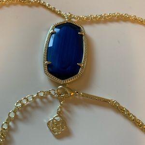 Kendra Scott 'Elise' Pendant Necklace Cobalt Blue